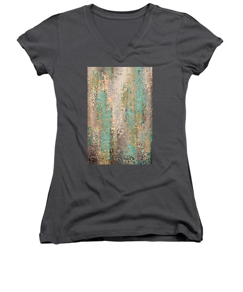 Where Are You God. Hebrews 4 12 Women's V-Neck T-Shirt (Junior Cut) by Mark Lawrence