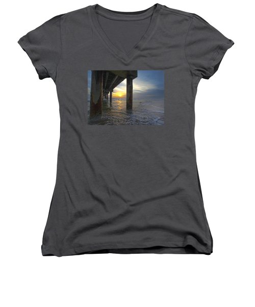 Where The Sand Meets The Surf Women's V-Neck