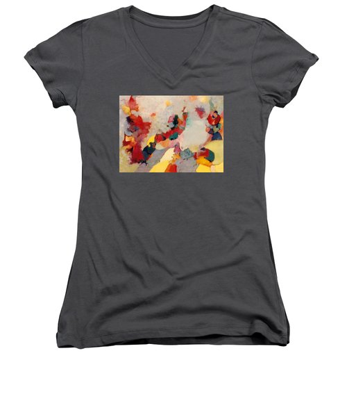 Where There Is Smoke Women's V-Neck T-Shirt (Junior Cut) by Bernard Goodman