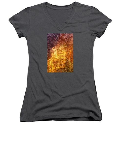 Where Theres Smoke Women's V-Neck T-Shirt