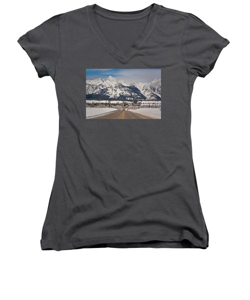 Where To? Women's V-Neck (Athletic Fit)
