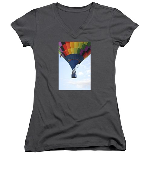 Women's V-Neck T-Shirt (Junior Cut) featuring the photograph Where Will The Winds Take Us? by Linda Geiger