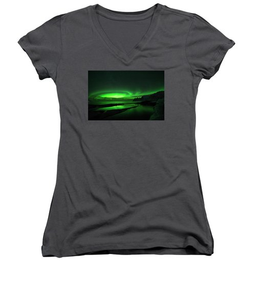 Women's V-Neck featuring the photograph Whirlpool by Alex Lapidus