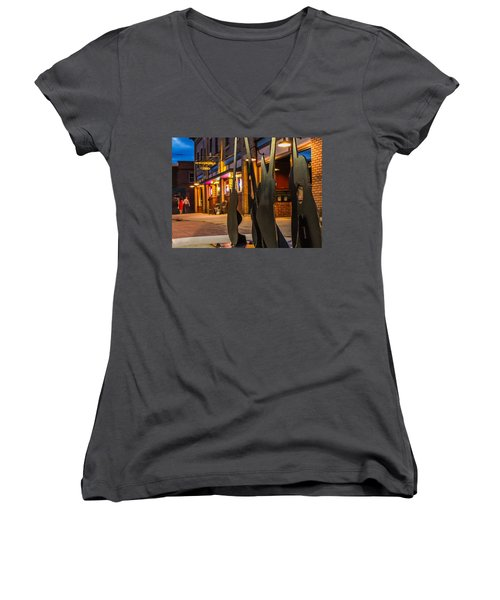 Whiskerz And Guitar Icons Women's V-Neck
