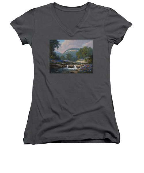 Whispering Creek Women's V-Neck T-Shirt