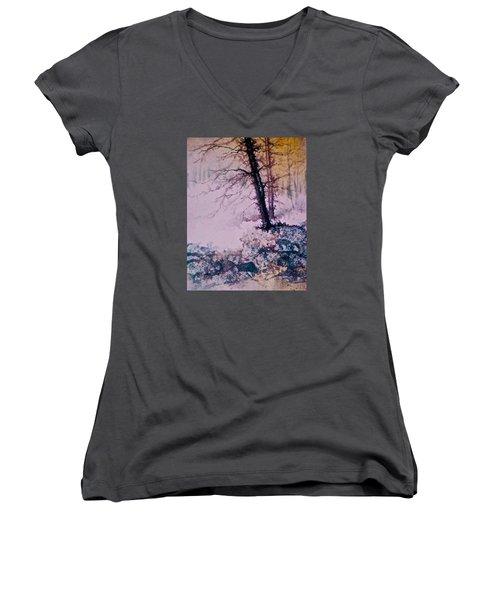 Whispers In The Fog  Partii Women's V-Neck T-Shirt