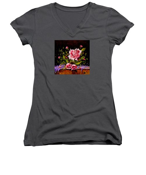 Whispers Of Love.. Women's V-Neck T-Shirt (Junior Cut) by Cristina Mihailescu