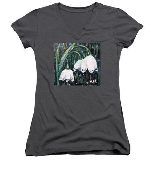 White Bells Women's V-Neck T-Shirt