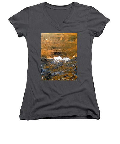 White Buildings No.1 Women's V-Neck T-Shirt