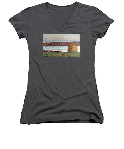 White Horse Black Horse Women's V-Neck T-Shirt