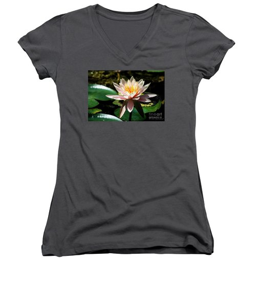 White Lily Women's V-Neck (Athletic Fit)