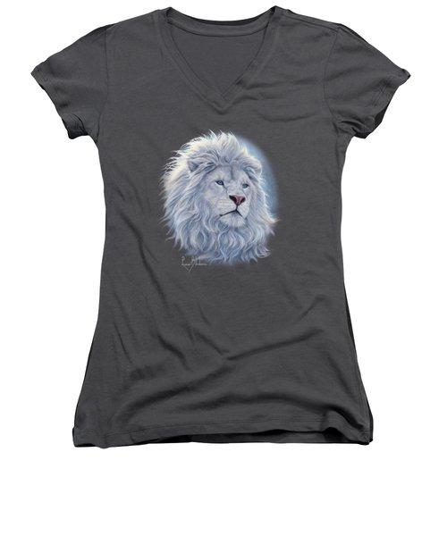 White Lion Women's V-Neck