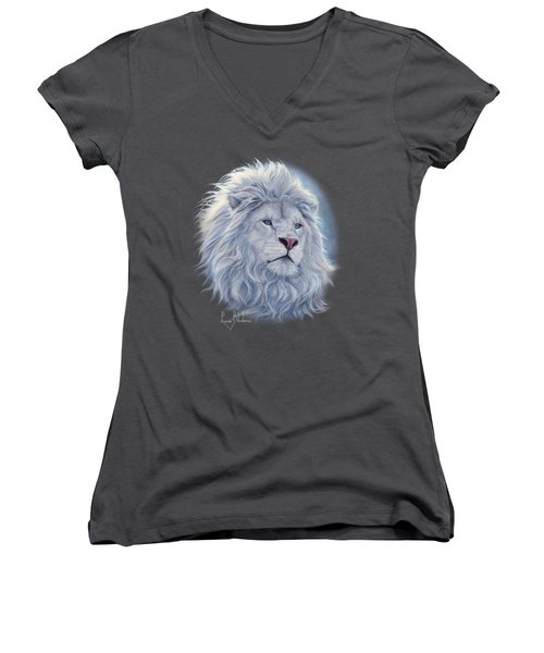 White Lion Women's V-Neck T-Shirt