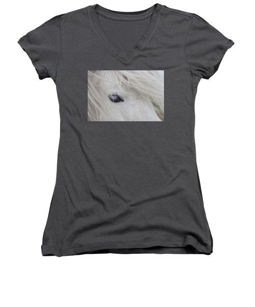 White Pony Women's V-Neck