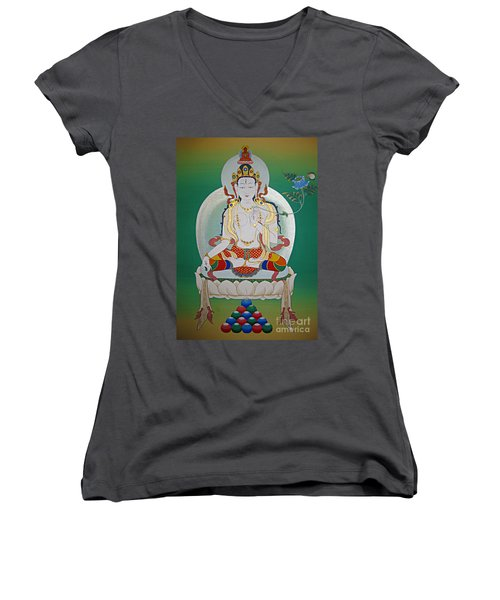 White Tara Women's V-Neck (Athletic Fit)