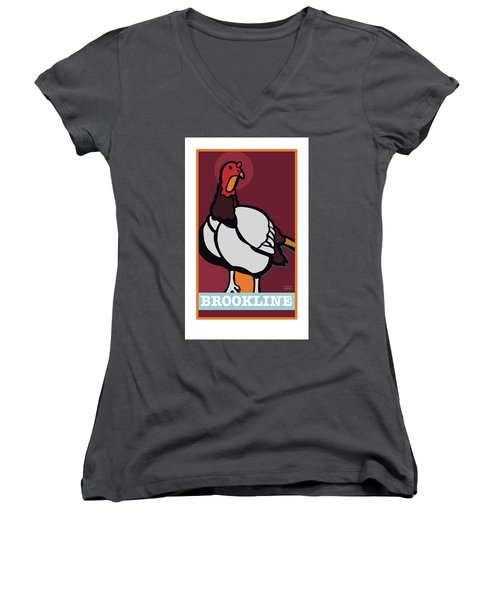 Ghost Turkey Women's V-Neck