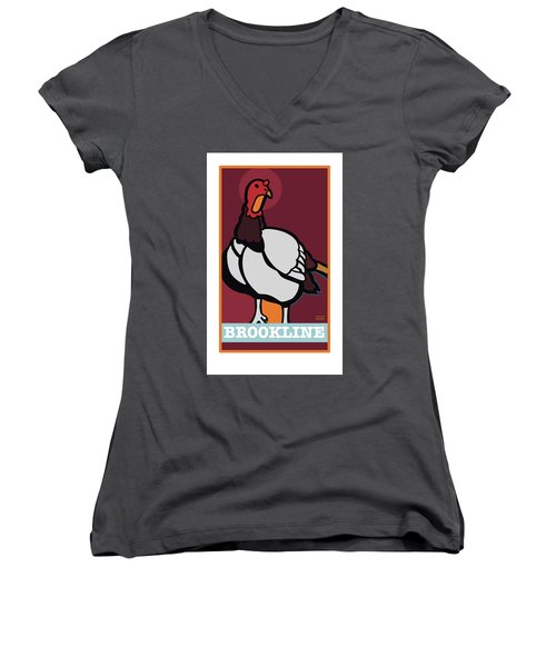Ghost Turkey Women's V-Neck
