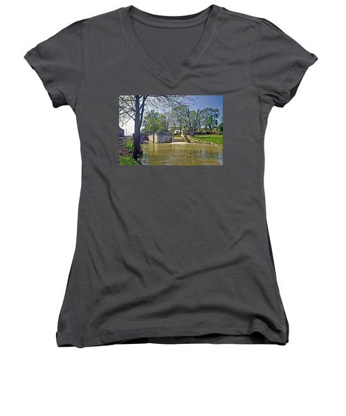 Whitewater Canal Metamora Indiana Women's V-Neck