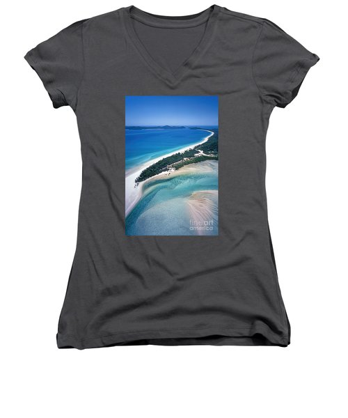 Women's V-Neck featuring the photograph Whitsunday Islands by Juergen Held