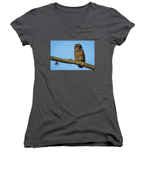 Whooo Women's V-Neck (Athletic Fit)