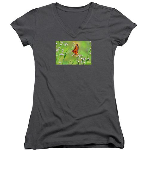 Whoops Women's V-Neck T-Shirt (Junior Cut) by Kathy Gibbons