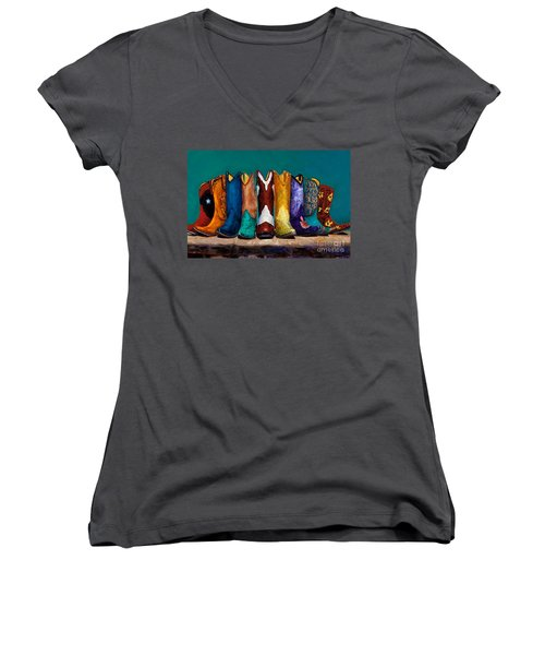 Why Real Men Want To Be Cowboys 2 Women's V-Neck (Athletic Fit)
