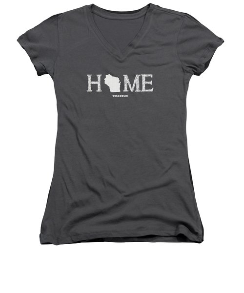 Wi Home Women's V-Neck T-Shirt (Junior Cut) by Nancy Ingersoll