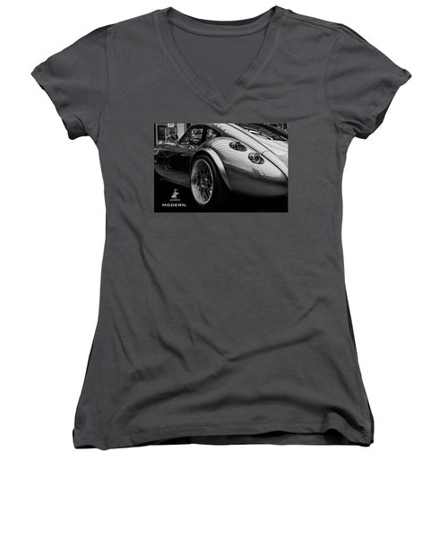 Wiesmann Mf4 Sports Car Women's V-Neck T-Shirt (Junior Cut) by ISAW Gallery