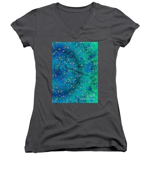 The Wild Blueberry Women's V-Neck T-Shirt