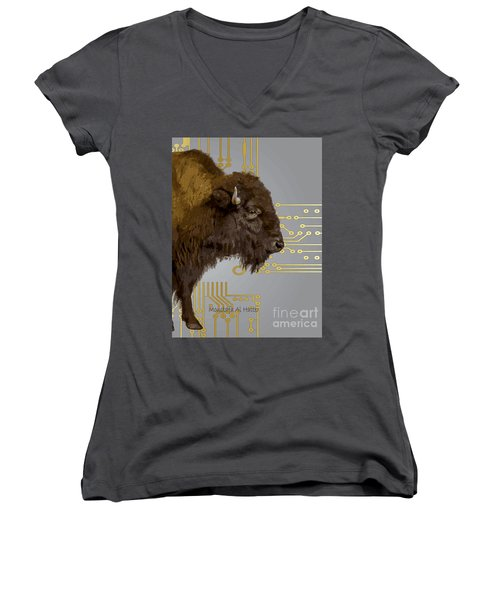 The American Buffalo Women's V-Neck (Athletic Fit)