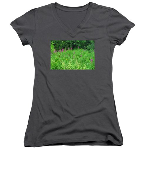 Wild Flowers And Shrubs In Vogelsberg Women's V-Neck