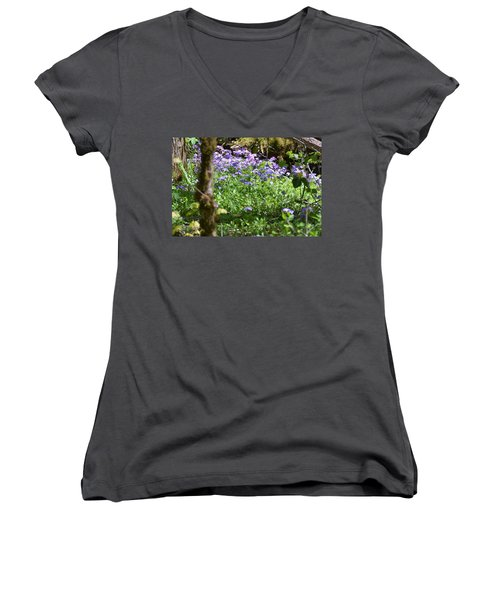 Wild Flowers On A Hike Women's V-Neck