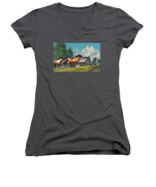 Wild Horses Women's V-Neck