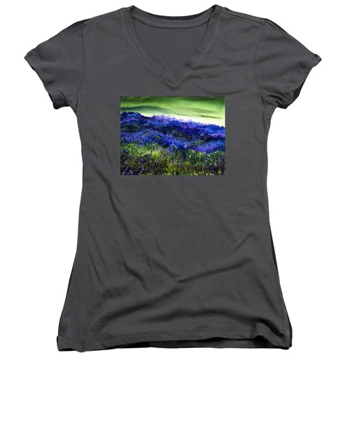 Wild Lavender Women's V-Neck T-Shirt