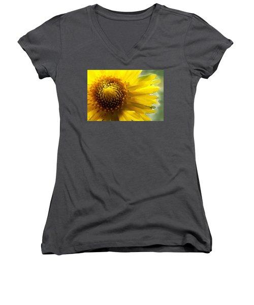 Wild Sunflower Up Close Women's V-Neck