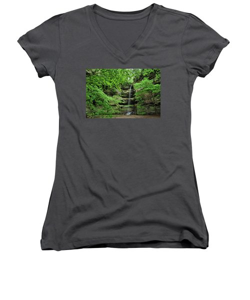 Wildcat Canyon Falls Women's V-Neck (Athletic Fit)