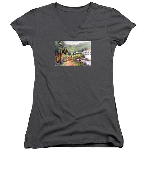 Wildflower Inn Women's V-Neck T-Shirt