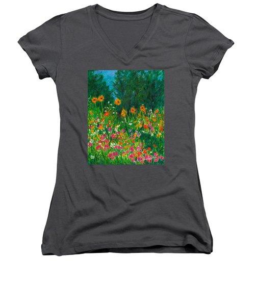 Wildflower Rush Women's V-Neck