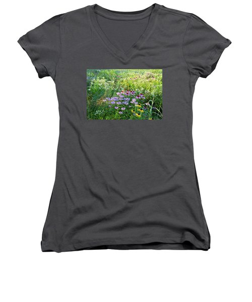 Wildflowers In Moraine Hills State Park Women's V-Neck