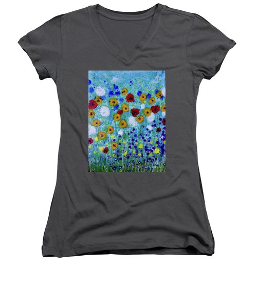 Wildflowers Never Die Women's V-Neck (Athletic Fit)