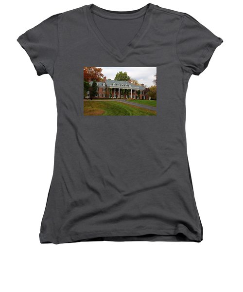 Wildwood Manor House In The Fall Women's V-Neck