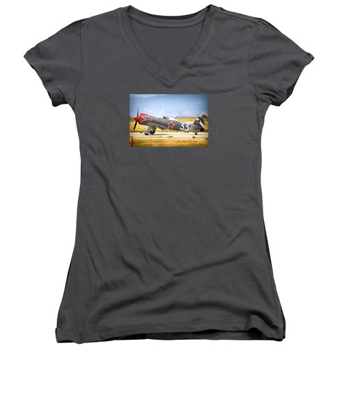 Will Whiteside And Steadfast Women's V-Neck (Athletic Fit)