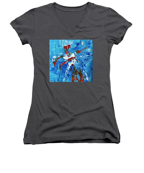 Will You Dance With Me? Women's V-Neck T-Shirt (Junior Cut) by Jasna Dragun