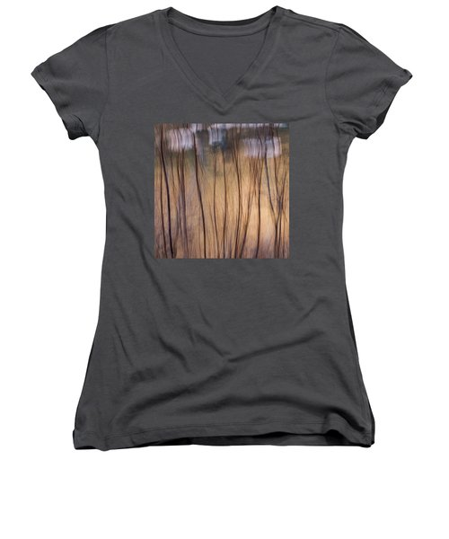 Willows In Winter Women's V-Neck (Athletic Fit)