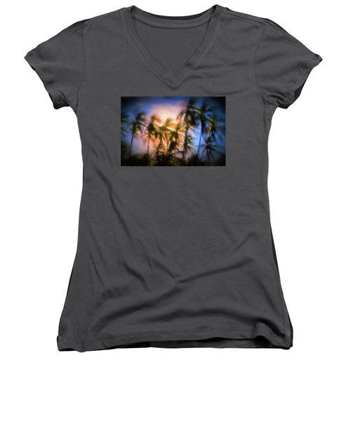 Wind And Palms Women's V-Neck (Athletic Fit)