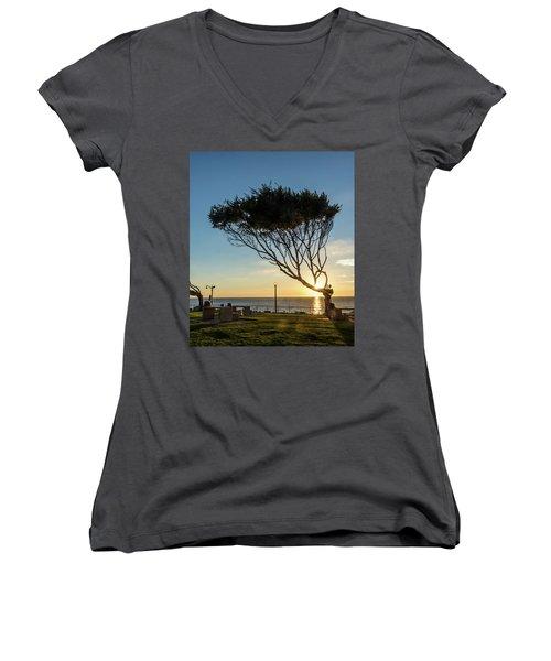 Wind Blown Tree Women's V-Neck