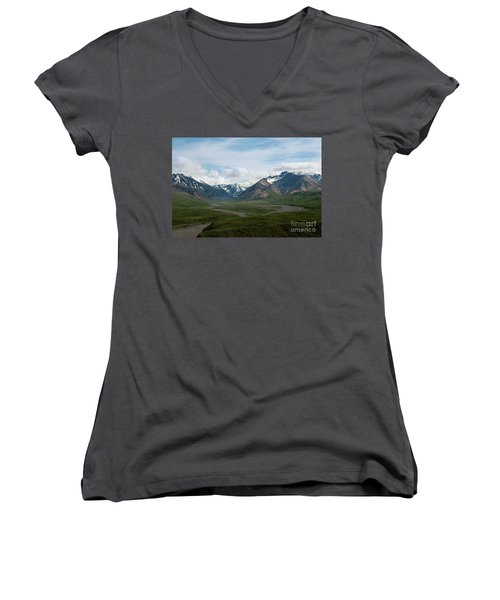 Winding Water Ways Women's V-Neck T-Shirt