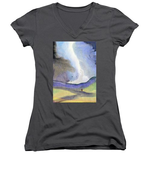 Windmills Of The Mind Women's V-Neck