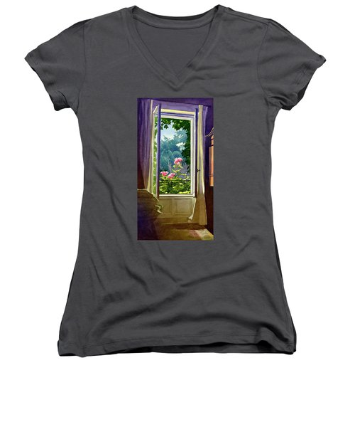 Window At Clermont Women's V-Neck (Athletic Fit)