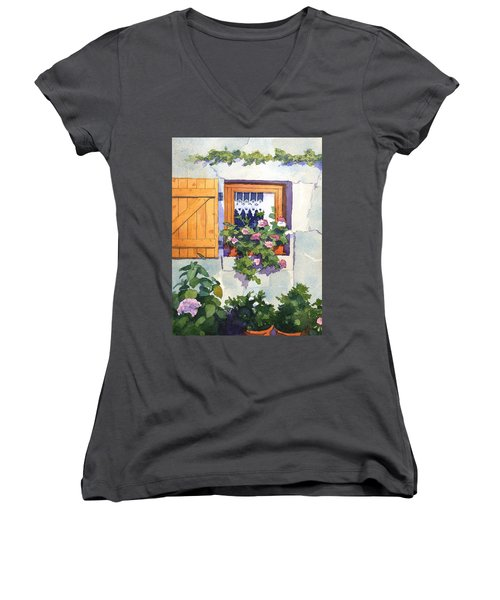 Window At St Saturnin Women's V-Neck (Athletic Fit)